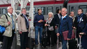 Die Delegation der Initiative mit den Vertretern der DB und Frau Peijs beim Besuch des neuen Salzburger Bahnhofs.
